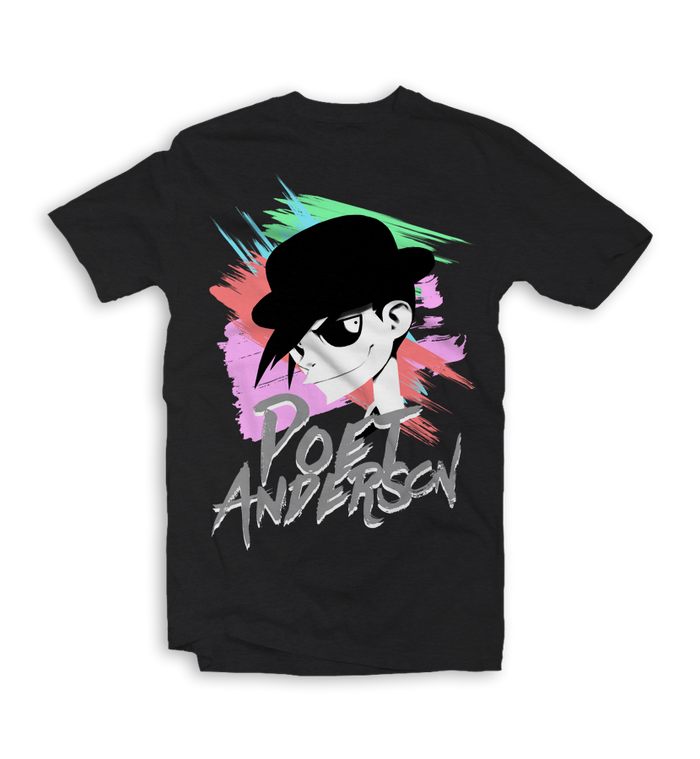 Poet Anderson-80s T-Shirt Black-small-To The Stars...