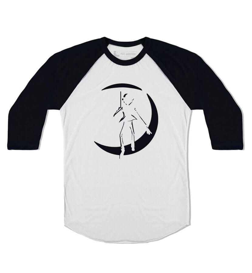Poet Anderson Original Icon Unisex Raglan White/Black - To The Stars...
