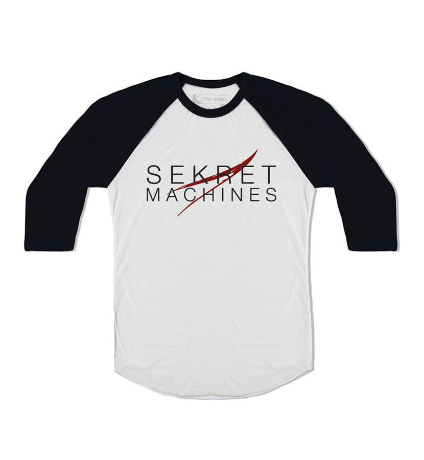 Sekret Machines Vector Logo Unisex Raglan White/Black - To The Stars