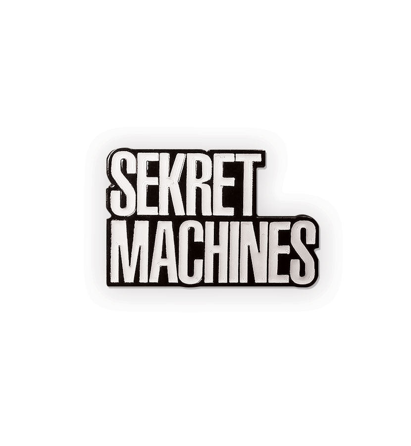 Sekret Machines Block Letter Logo Lapel Pin - To The Stars