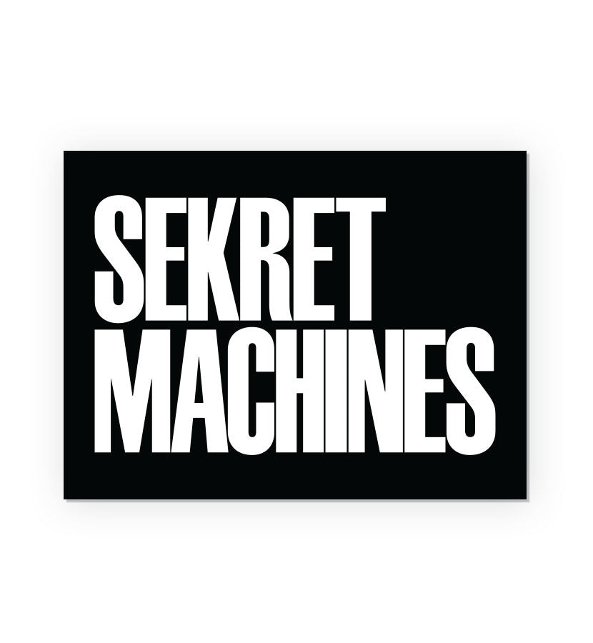 Sekret Machines Block Letter Logo Rectangle Sticker - To The Stars