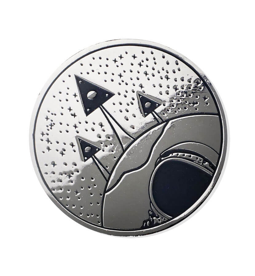 Sekret Machines-Chasing Shadows Black Nickel Coin-To The Stars...