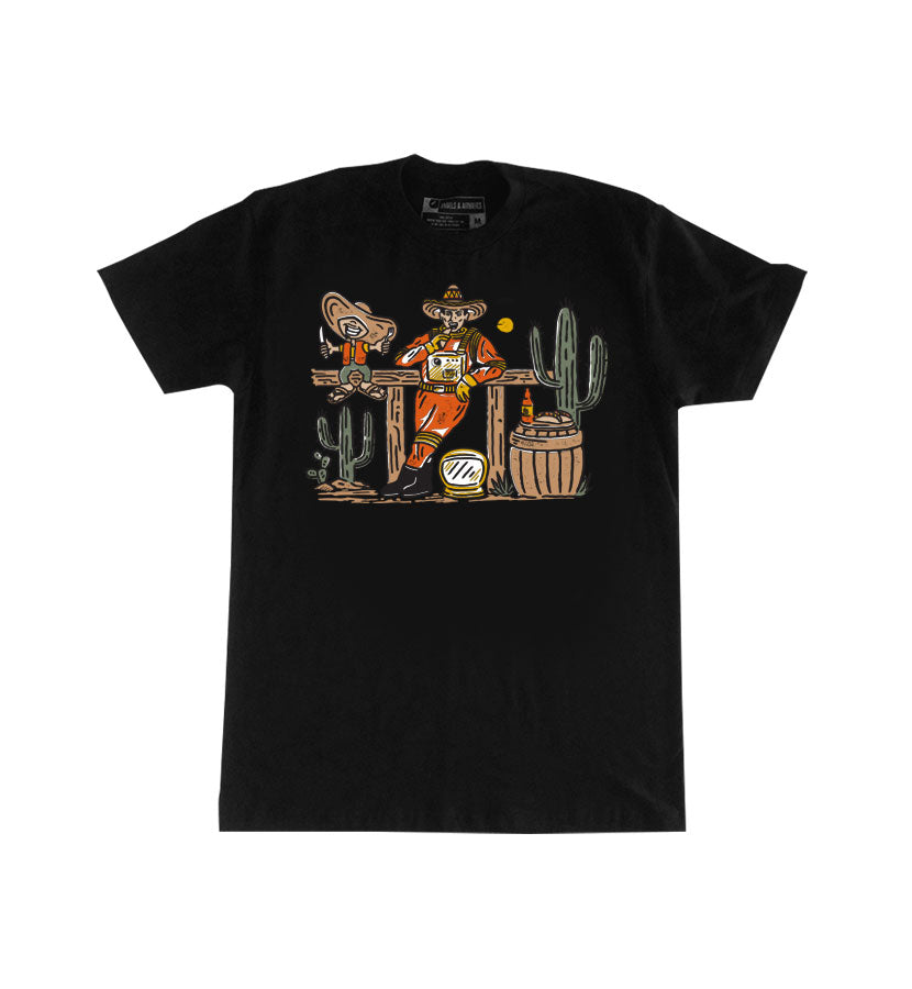 x Sombrero Mexican Food Space Cowboy T-Shirt Black