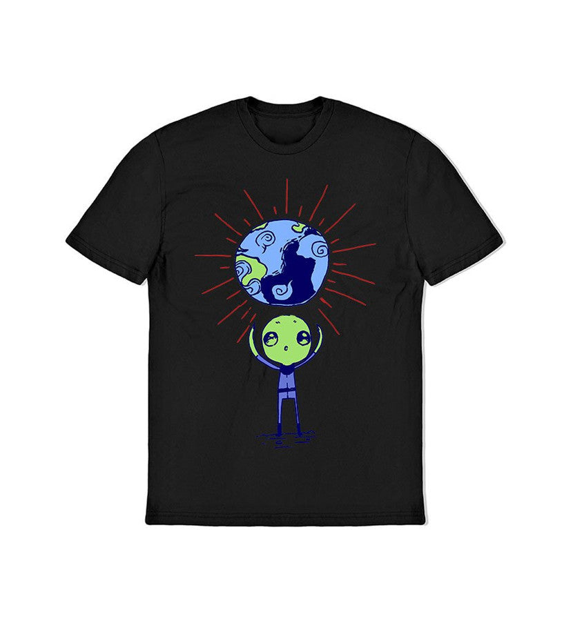 The Lonely Astronaut Alien Gift Toddler T-Shirt Black - To The Stars - 2