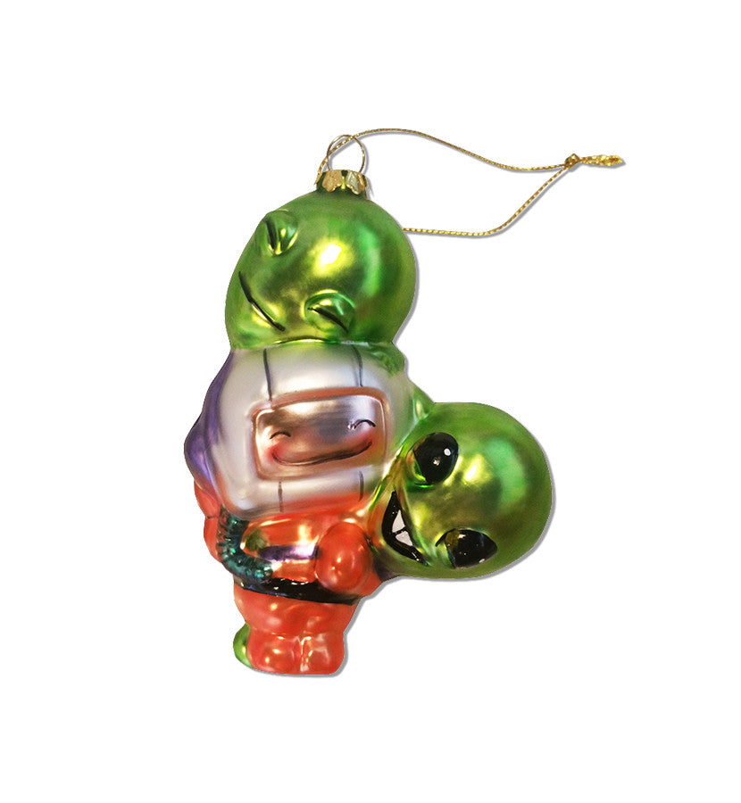 The Lonely Astronaut HUG 3D Glass Ornament