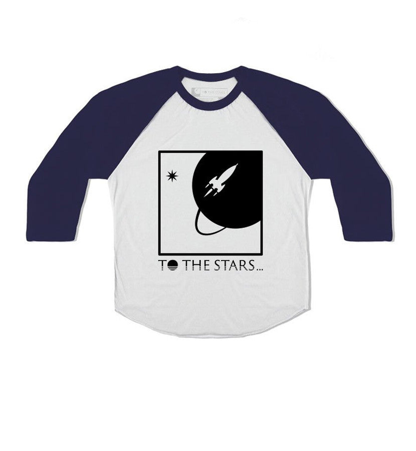 To The Stars Inc. Full Icon Unisex Toddler Raglan White/Navy - To The Stars