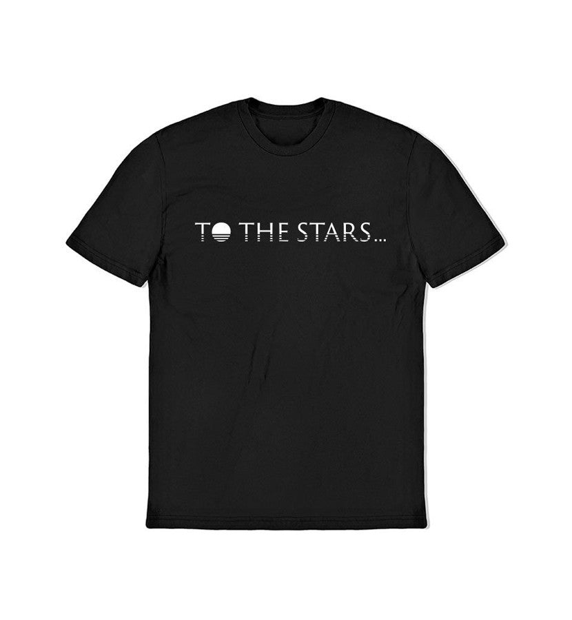 To The Stars... Text Logo T-Shirt Black - To The Stars