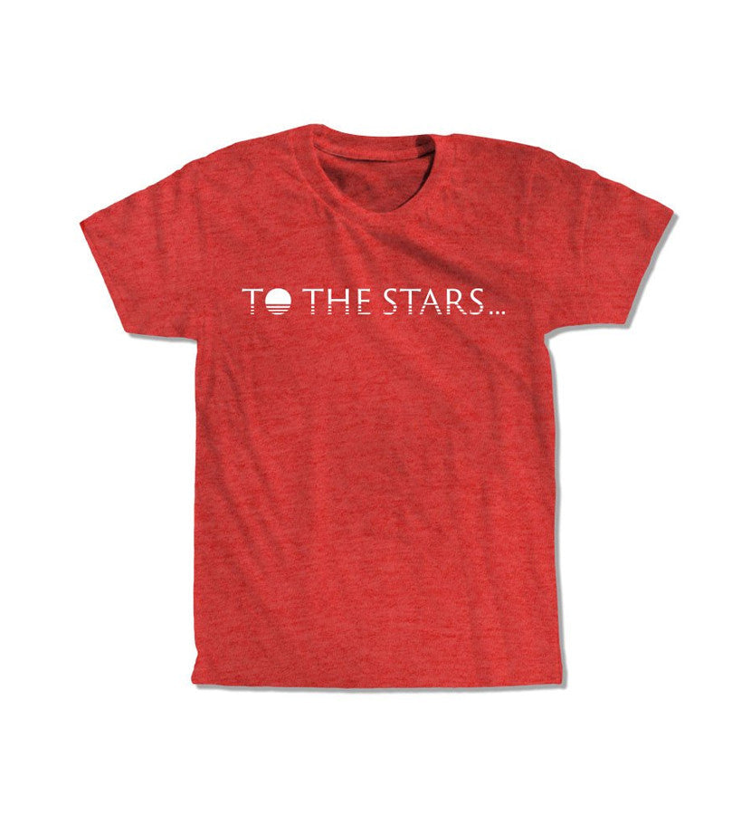 To The Stars... Text Logo T-Shirt Vintage Red - To The Stars