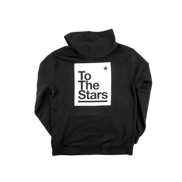 Box Zip-Up Hoodie Black