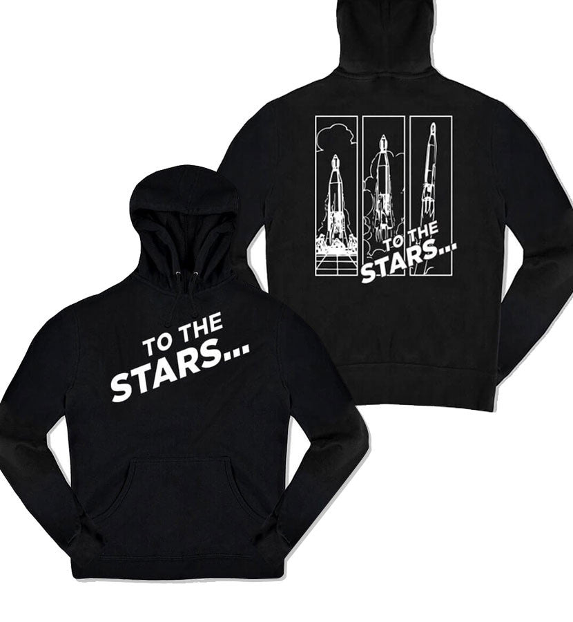 To The Stars Inc. Rocket Launch Unisex Pullover Hoodie Black - To The Stars...