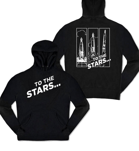Rocket Launch Unisex Pullover Hoodie Black