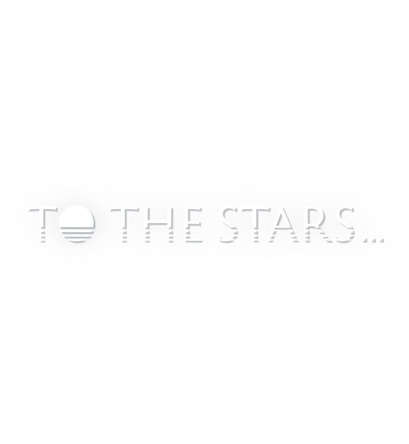 To The Stars Inc. Text Logo Transfer Sticker - To The Stars - 1