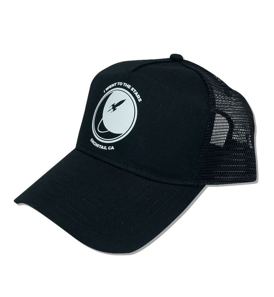 I Went To The Stars Trucker Hat Black