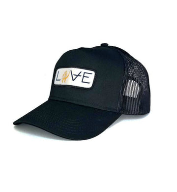 LOVE Movie Patch Trucker Hat Black