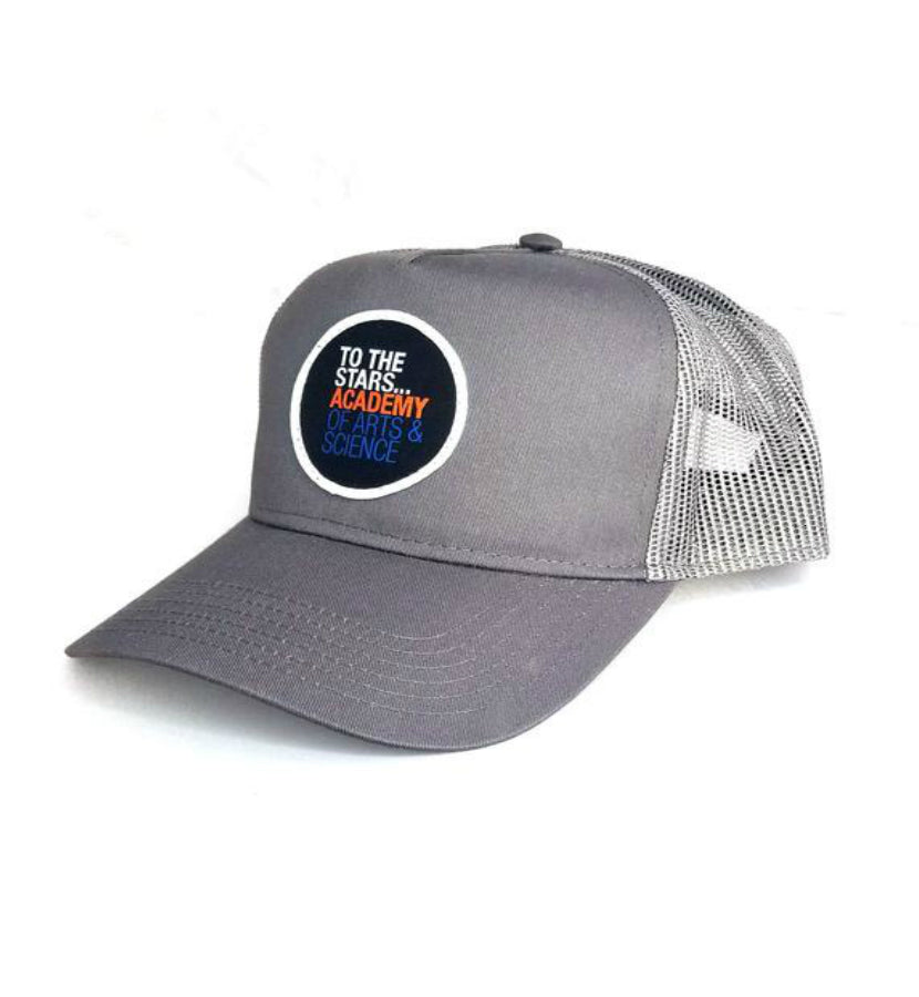Of Arts & Science Patch Trucker Hat Grey