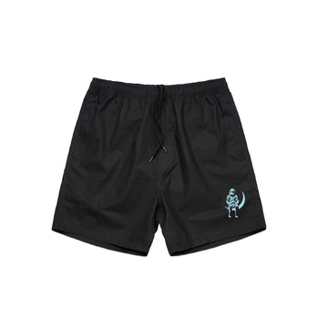 Angels and Airwaves Moon Man Shorts Black/Teal - To The Stars...
