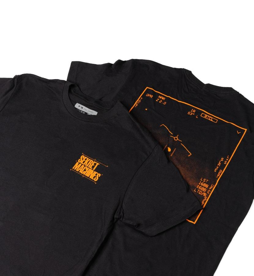 Sekret Machines UAP T-Shirt Black/Orange lifestyle