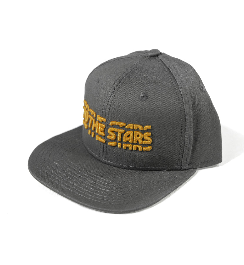 To The Stars Inc. Glitch 3D Snapback Charcoal Grey - To The Stars...