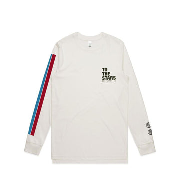 Vintage Bars Text L/S T-Shirt Natural