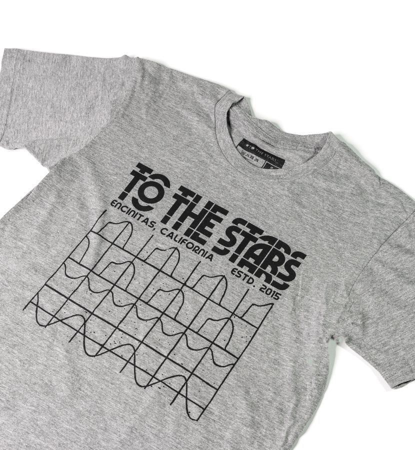To The Stars... Glitch Graph T-Shirt Athletic Heather lifestyle