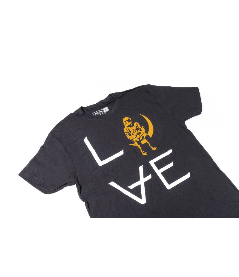 Love Stacked T-Shirt Black/White/Orange