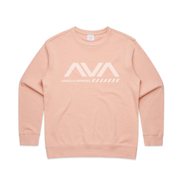 Angels and Airwaves Approach Women's Crewneck Pale Pink | ToTheStars.Media