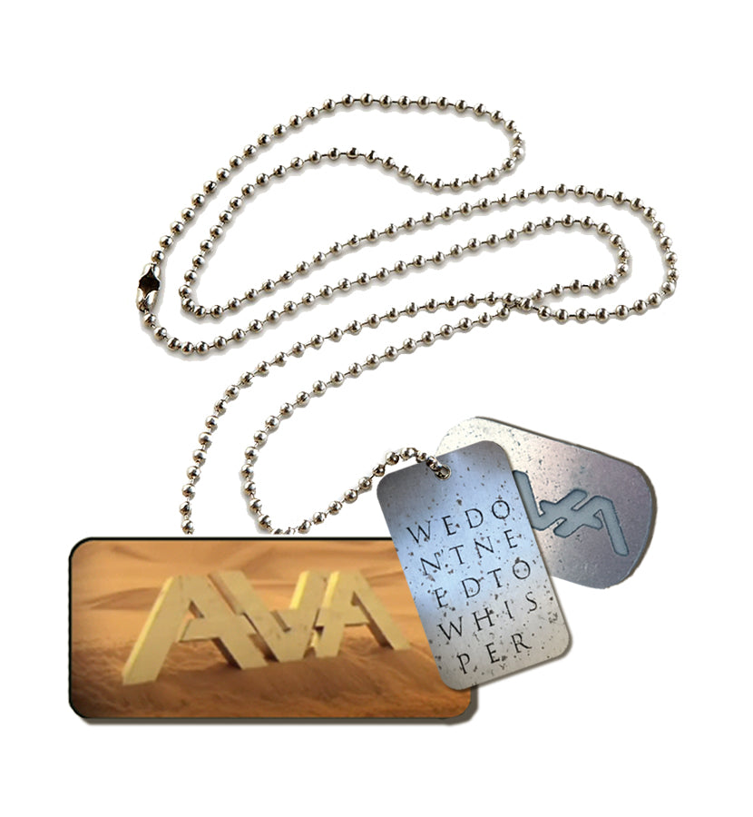 AVA Letters Dog Tags