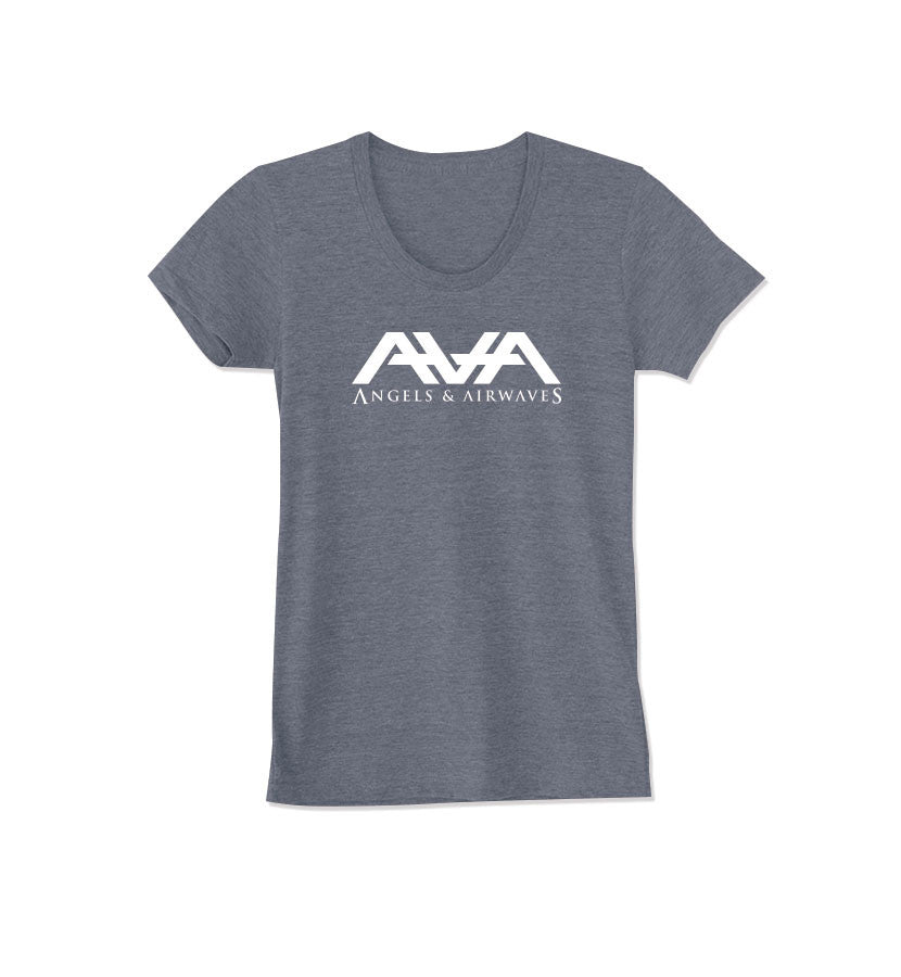 Angels and Airwaves Band Logo Women's T-Shirt Tri-Grey - To The Stars...