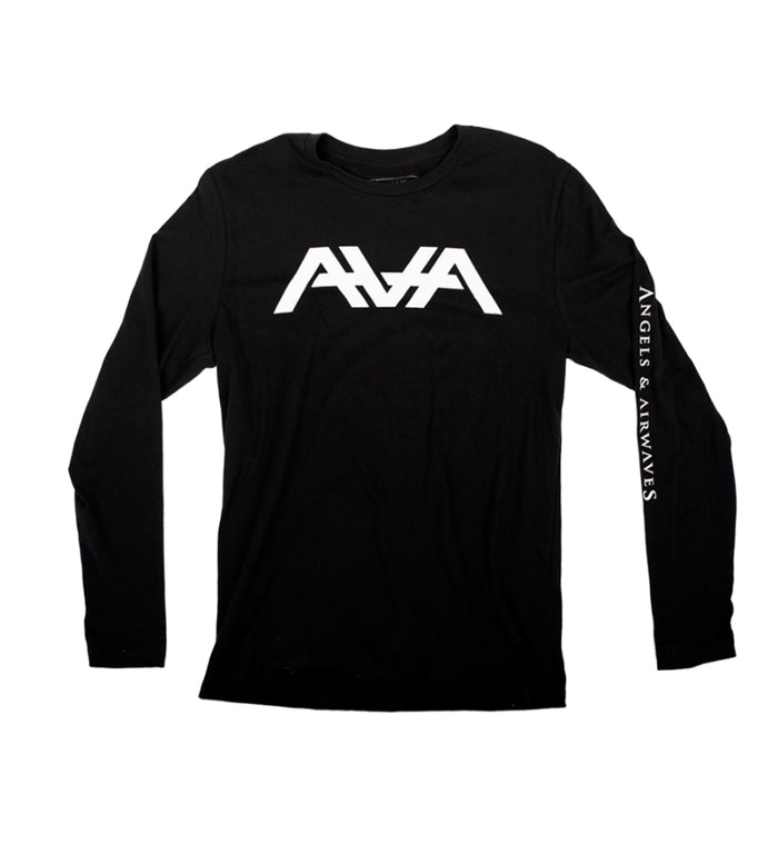 Angels & Airwaves Block Logo Long Sleeve T-Shirt Black - To The Stars...