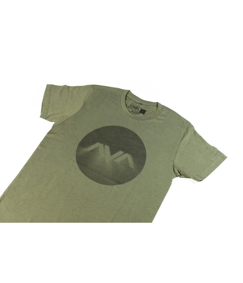 Circle Glow T-Shirt Army/Black