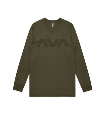 Angels and Airwaves Circuitboard L/S T-Shirt Army