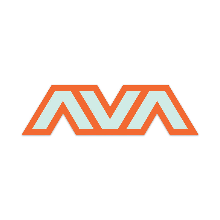Angels & Airwaves Clean Logo Die Cut Sticker Orange/Teal