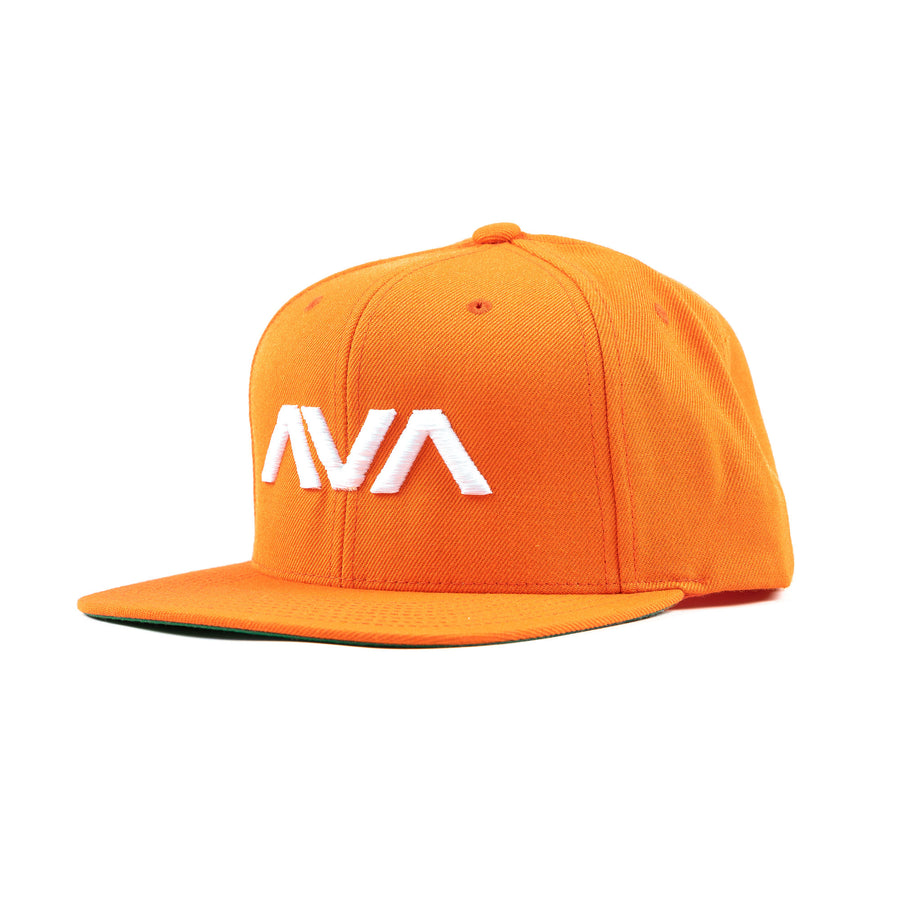 Clean Logo Snapback Orange/White