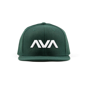 Clean Logo Snapback Spruce/White