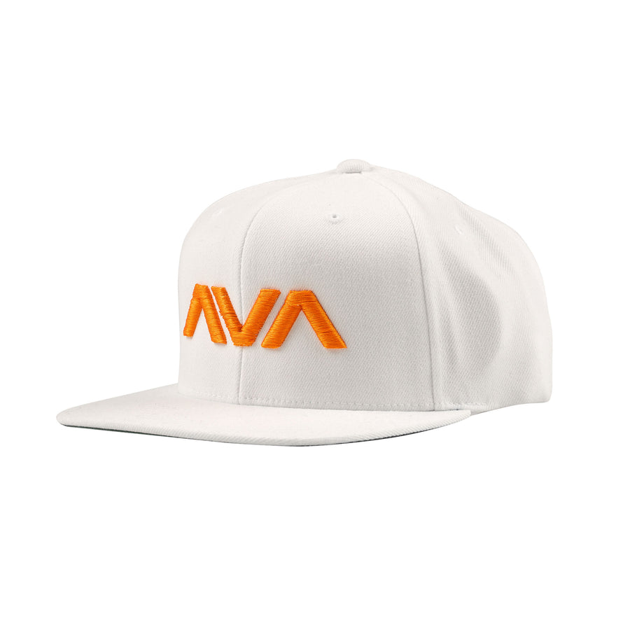 Clean Logo Snapback White/Orange