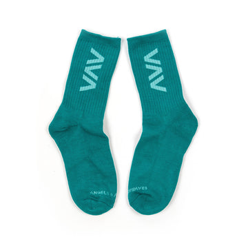 Clean Logo Socks Teal