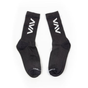 Clean Logo Socks Black