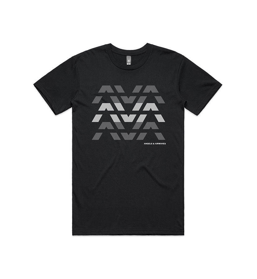 Angels and Airwaves Clean Logo Stack T-Shirt Black - To The Stars...