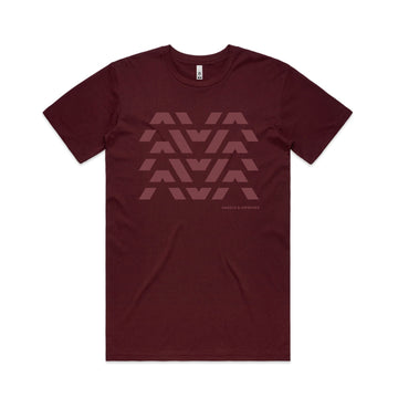 Angels & Airwaves Clean Logo Stack T-Shirt Burgundy | ToTheStars.Media