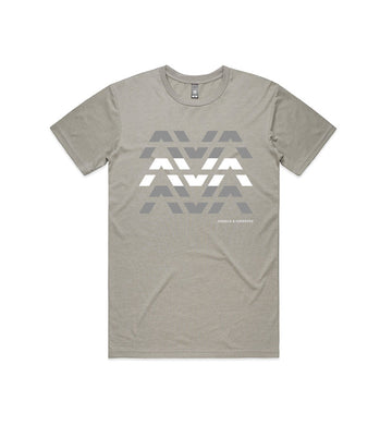 Clean Logo Stack T-Shirt Light Grey