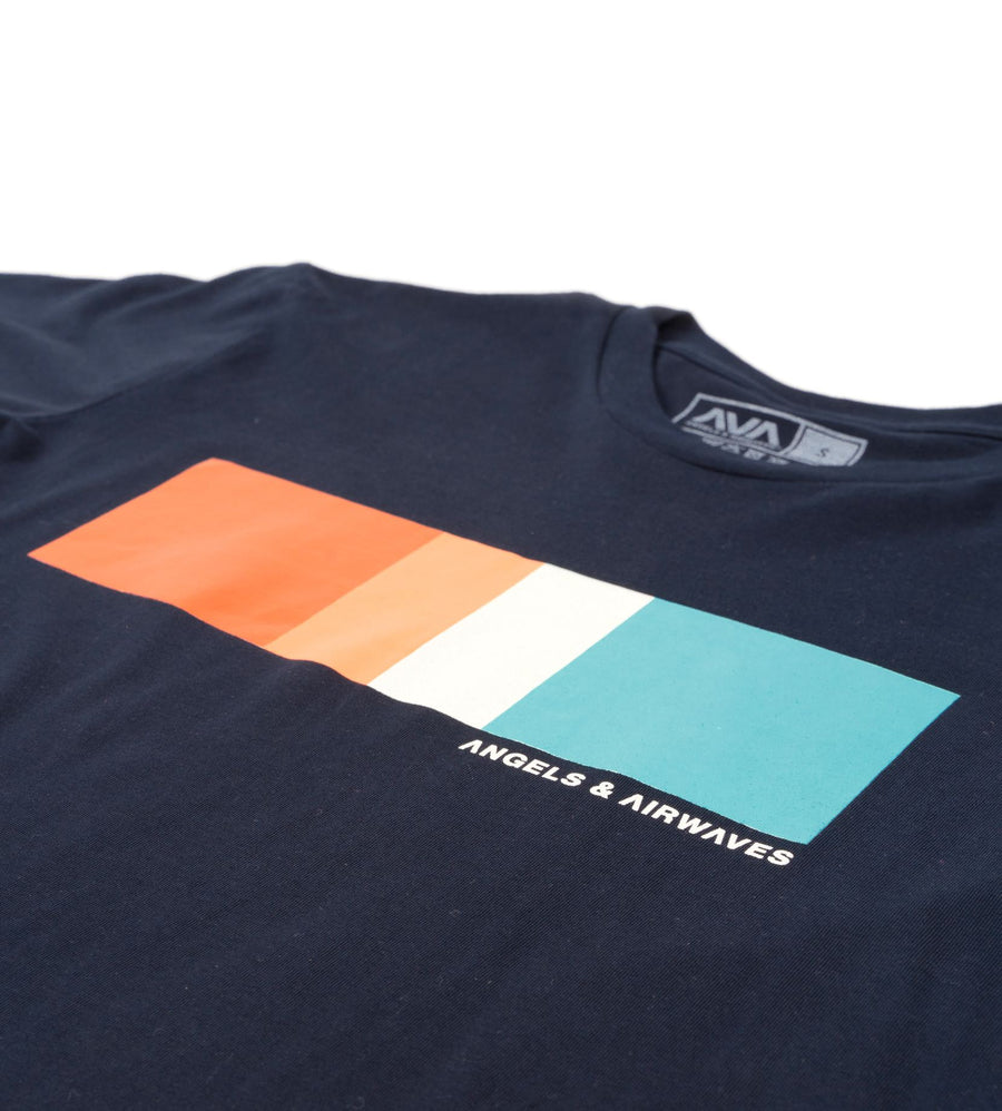 Color Block T-Shirt Navy