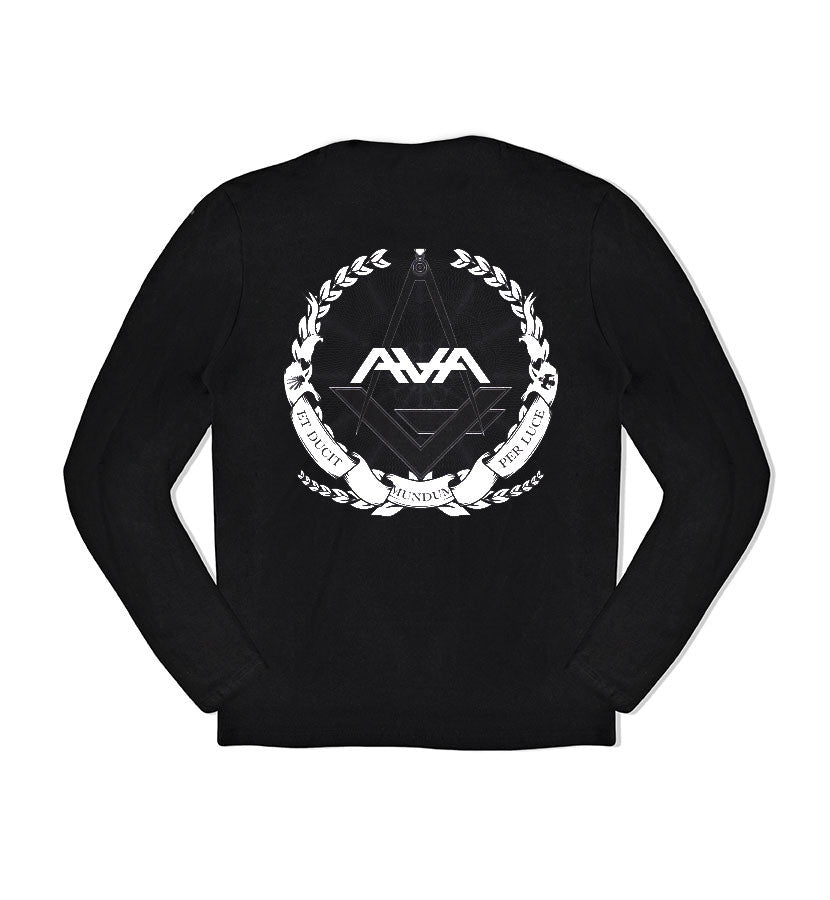 Angels and Airwaves Compass L/S T-Shirt Black - Back - To The Stars...