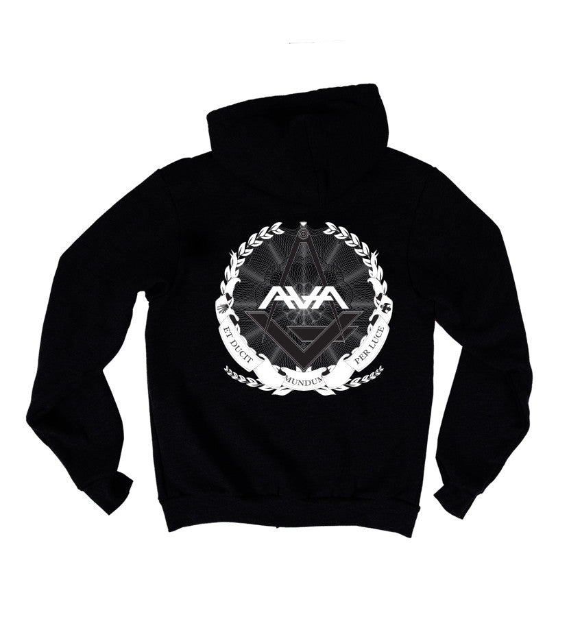Angels and Airwaves Compass Unisex Zip-Up Hoodie Black - To The Stars...