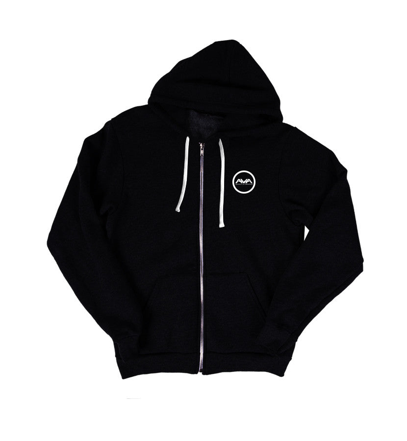 Angels and Airwaves Compass Unisex Zip-Up Hoodie Black Front - To The Stars...