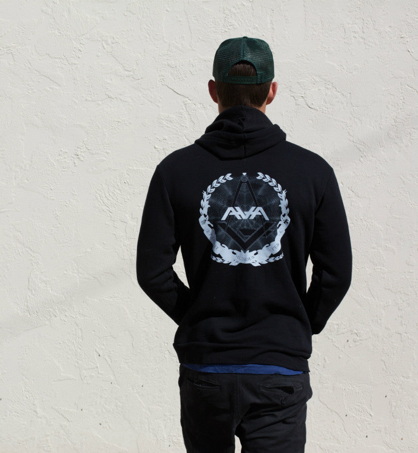Angels and Airwaves Compass Unisex Zip-Up Hoodie Black Back - Lifestyle - To The Stars...