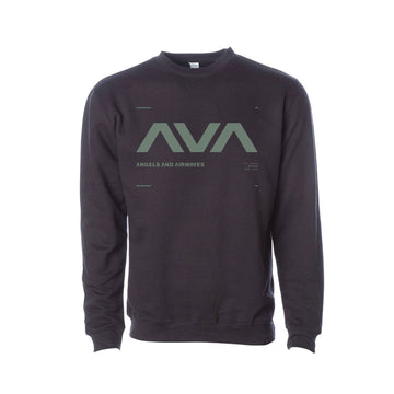 Angels & Airwaves Data Crewneck Sweatshirt Black/Sage | ToTheStars.Media