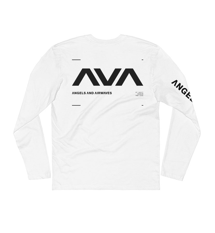 Angels and Airwaves Data L/S T-Shirt White/Black Back - To The Stars...
