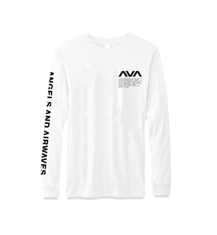 Angels and Airwaves Data L/S T-Shirt White/Black Front - To The Stars...