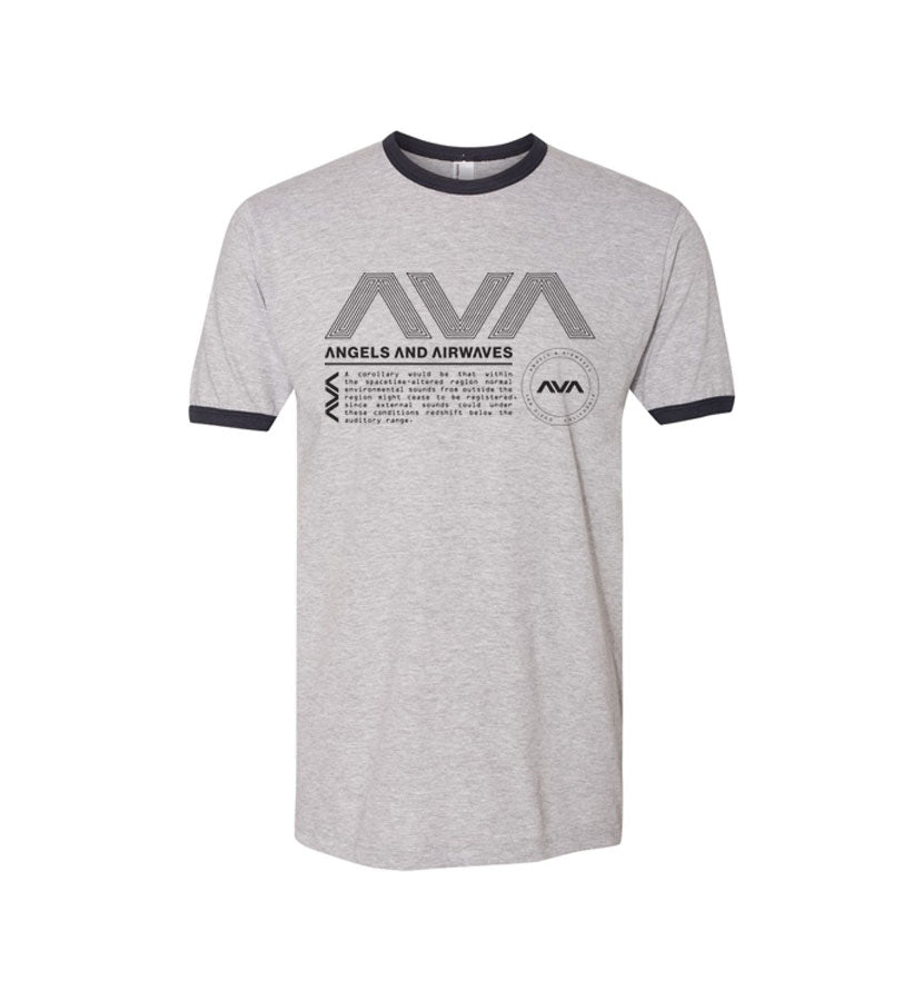 Angels and Airwaves Data Package Ringer T-Shirt Black/Heather Gray