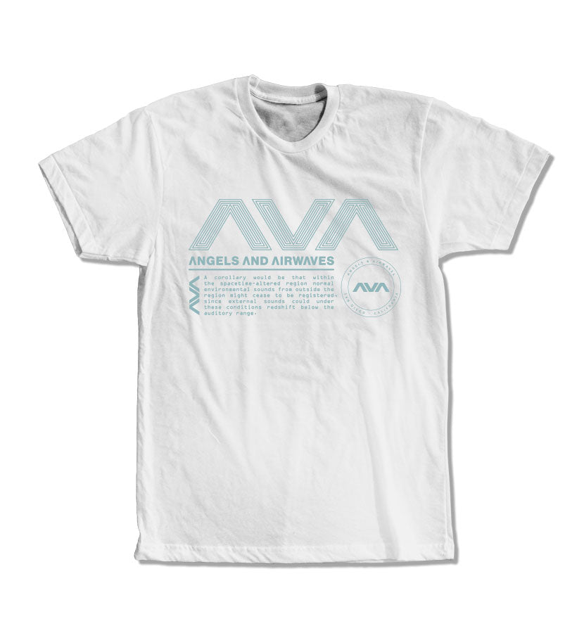 Angels and Airwaves Data Package T-Shirt White/Teal
